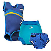 Konfidence Babywarma and Swim Nappies Set Blue 3 to 6 Months