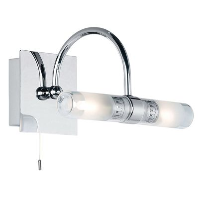Shore Curved 33W Chrome Plate Bathroom Wall Light