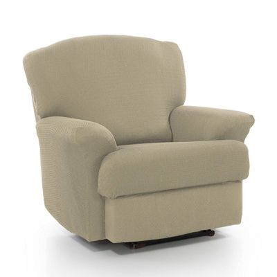 Homescapes Recliner Seat Armchair Cover Elasticated Slipcover Protector. Beige