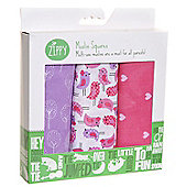 Zippy Muslin Squares in Cheerful Pinks and Lilac (3 Pack, Gift Set) …