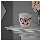 Fox & Ivy Pink Butterfly Tealight Holder