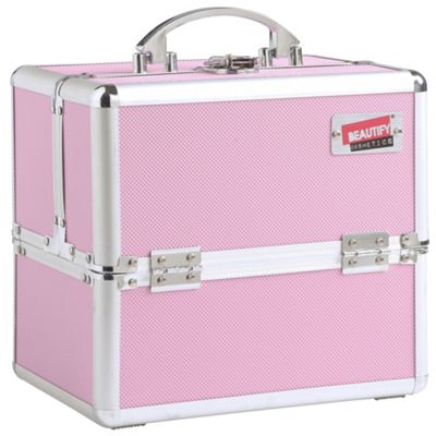 Beautify Small Pink Makeup Beauty Case