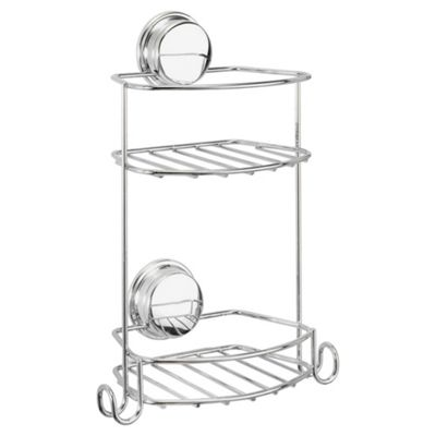 Croydex Stick 'n' Lock Plus Compact Two Tier Storage Basket