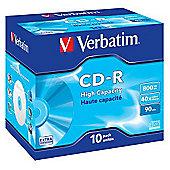 Verbatim CD-R 40x 800MB 90min Hi Capacity Jewel Case (10 Pack)