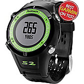 Garmin Approach S2 GPS Golf Watch (Blk Green) in Black & Green