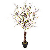 Homescapes Artificial Blossom Tree with Pink Silk Flowers - 5 Feet