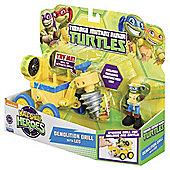 Teenage Muntant Ninja Turtles Half-Shell Heroes Demolition Drill Vehicle With Leo Figure