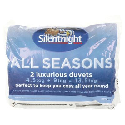 Silentnight All Seasons 4.5/9 Tog Duvet Single