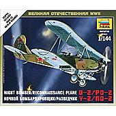 Zvezda 6150 Soviet Night Bomber Plane Po-2 Wwii 1:144 Snap Fit Model Kit