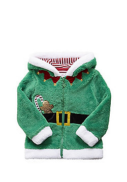 F&F Elf Christmas Fleece Hoodie - Green
