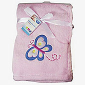First Steps Supersoft Fleece Baby Blanket Pink Butterfly 75x100cm