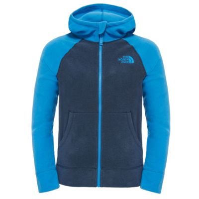 The North Face Boys Glacier Full Zip Hoodie Cosmic Blue L