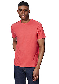 F&F Crew Neck T-Shirt with As New Technology - Bright Pink