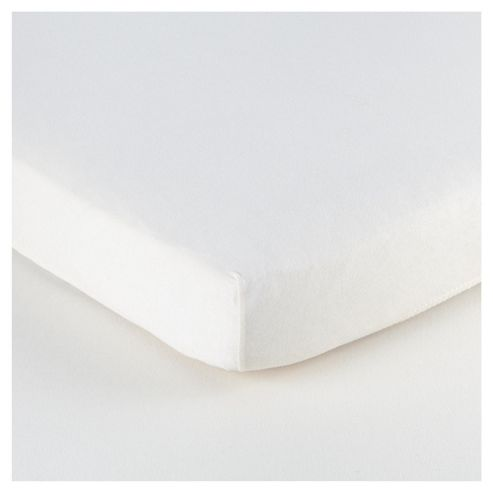 Tesco Loves Baby Cot Jersey Fitted sheet 2 pack White