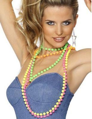 Smiffy's - 80's Fluorescent Beads