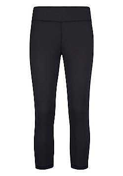 Mountain Warehouse Womens Lightweight Leggings Isocool Design with Antibacterial - Black
