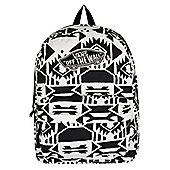 Vans White Sand/Black Realm Backpack 32.5x42.5x12.5cm