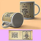 Original Metal Sign Co Mug Grumpy Old Mens Club Cream