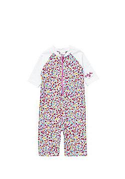 Babeskin Confetti Print UPF 50+ Rash Vest and Shorts Set - Pink