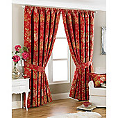 Riva Home Berkshire Pencil Pleat Curtains - Red