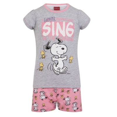 Peanuts Snoopy Toddler Girls Short Pyjamas 18-24 Months
