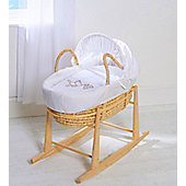 Moses Basket With Mattress Covers And Natural Rocking Stand Grey Hanging Ted Palm