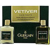 Guerlain Vetiver Gift Set 30ml EDT + 30ml Aftershave Balm For Men