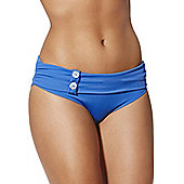 Curvy Kate Luau Love Fold Over Bikini Briefs - Blue