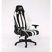 BraZen Sultan Elite PC Gaming Chair - Black/White