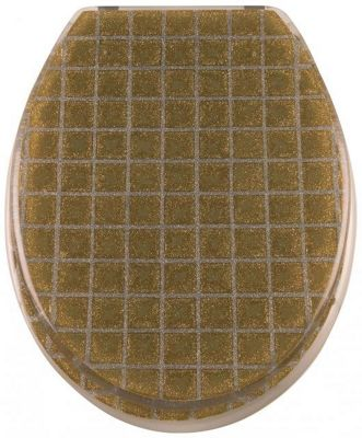 Sanwood Grid Toilet Seat - Gold/Silver
