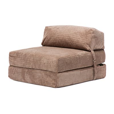 Camel Jumbo Cord Fold Out Single Z Bed Chair