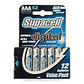 Supacell Digital AAA Alkaline Batteries 12 Pack