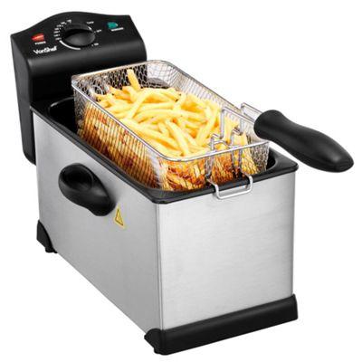 VonShef 3L Stainless Steel Deep Fat Fryer