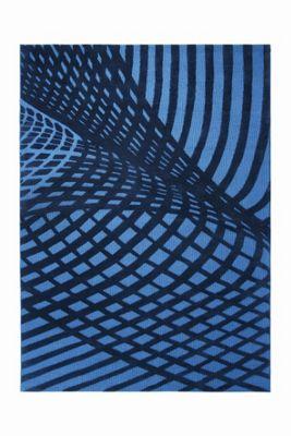 Esprit Vector Turquoise Contemporary Rectangular Rug