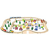 Viga Wooden Train Set 90 Piece