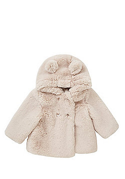 F&F Hooded Faux Fur Coat - Pink