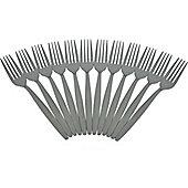 Argon Tableware Set Of 12 Stainless Steel Dinner Forks