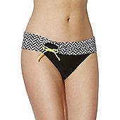 Curvy Kate Hypnotic Fold Over Bikini Briefs - Black