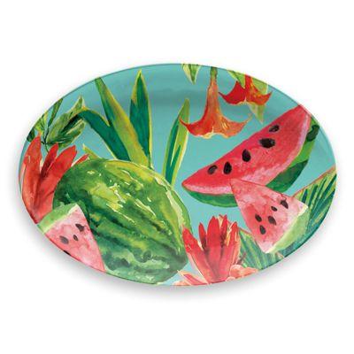 Epicurean Tropicana Watermelon Melamine Large Serve Platter