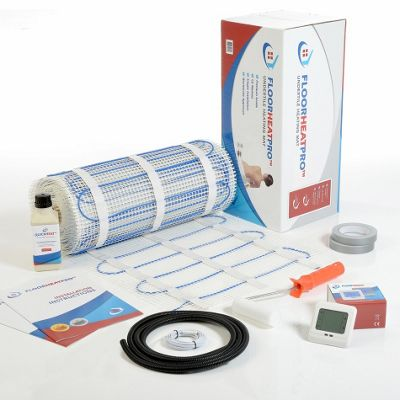 10.0m² - FLOORHEATPRO™ Electric Underfloor Heating Kit - 150w/m² - 1500 watts including Touchscreen Thermostat  - For use under tile floors