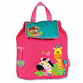 Children's Quilted Backpack - Girls Safari