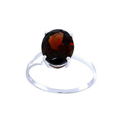 QP Jewellers 2.20ct Garnet Marvel Ring in 14K White Gold - Size G 1/2