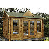 Forest Garden Alderley Log Cabin 4.0m x 3.0m Installed