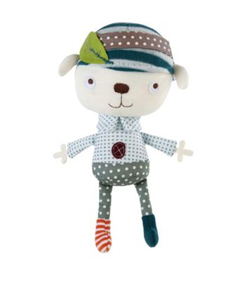 Mamas & Papas - Scrapbook Boy - Soft Rattle Toy