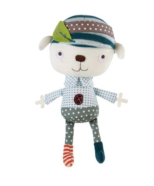 Mamas & Papas - Scrapbook Boy - Soft Rattle Toy