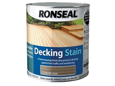 Ronseal Decking Stain Golden Cedar 5 Litre