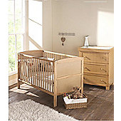 East Coast Hudson 2 Piece Nursery Room Set with Sprung Mattress (Antique)