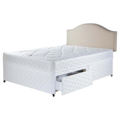Airsprung King Size Divan Bed with 2 Drawers, Evanton Memory