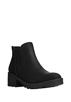 F&F Chunky Sole Chelsea Boots - Black