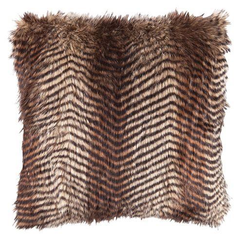 F&F Home Pheasant Faux Fur Cushion